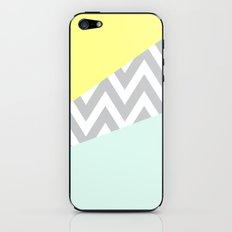 Mint & Yellow Chevron Color Block iPhone & iPod Skin