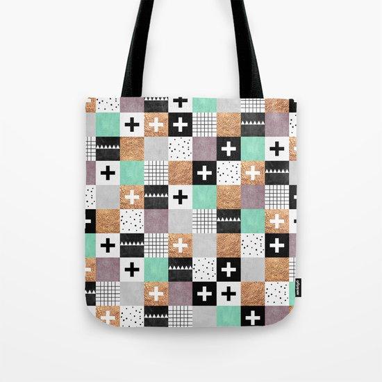 Squares 001 Tote Bag