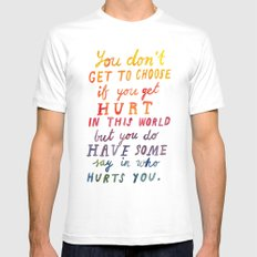 If You Get Hurt Poster MEDIUM Mens Fitted Tee White