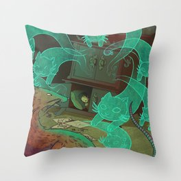 The Boy Who Drew Cats  Throw Pillow