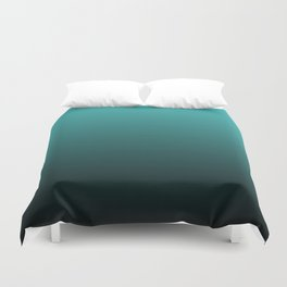 Teal Black Ombre Duvet Cover