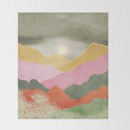 Colorful mountains Throw Blanket