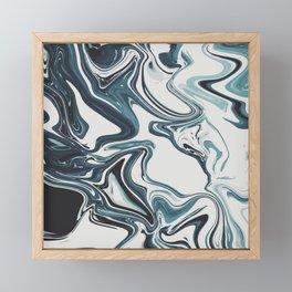 Liquid Marble Blues 023 Framed Mini Art Print