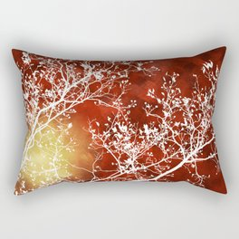 Burgundy Tree Abstract Rectangular Pillow