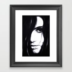 Look me in the eye. Framed Art Print