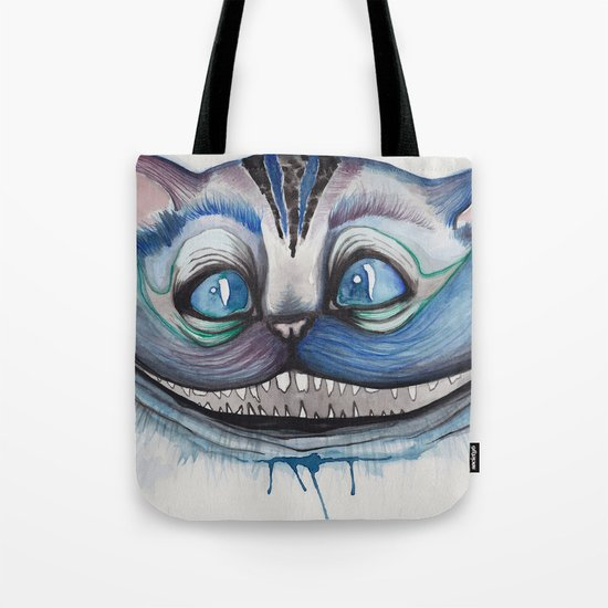 Cheshire Cat Grin - Alice in Wonderland Tote Bag