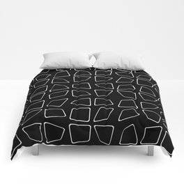 Changing Perspective - Simplistic Black and white Comforters