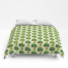 broccoli simple pattern Comforters