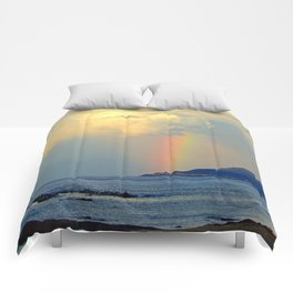 Storm Drops a Rainbow onto Village Comforters