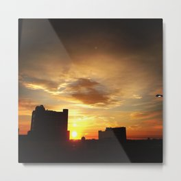 Sunrising On A Long Day For The Sick Metal Print
