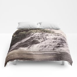 Waterfall in all its beauty Comforters