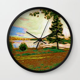 East Shore Green Wall Clock