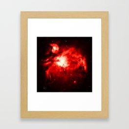Orion NeBULA : Red Framed Art Print