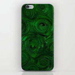 Emerald Green Roses iPhone Skin