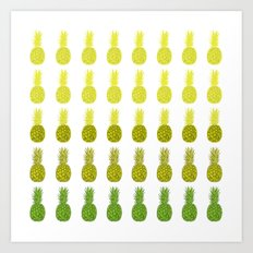 Pineapples - Sunrise Art Print