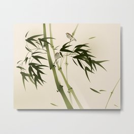 Oriental style painting, bamboo branches Metal Print