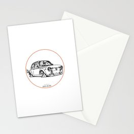 Crazy Car Art 0087 Stationery Cards