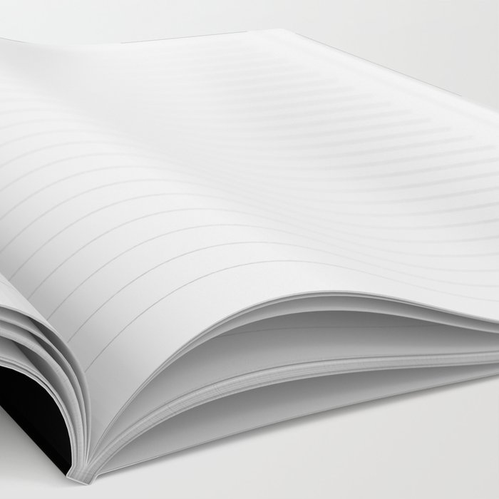Brushstroke 2 - simple black and white Notebook