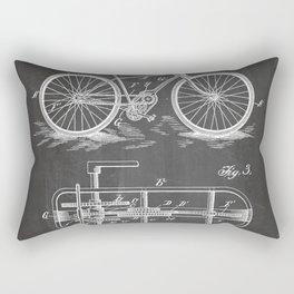 Bike Patent - Bicycle Art - Black Chalkboard Rectangular Pillow