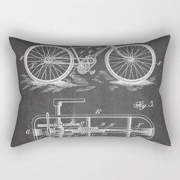Bike Patent - Bicycle Art - Black Chalkboard Rectangular Pillow
