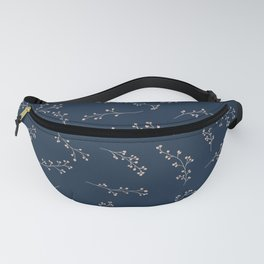 Berry Branches Pattern in Blue and Pink Fanny Pack
