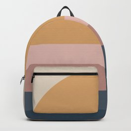Neutral 70's Minimal Sunset Backpack
