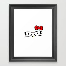 Hello Glasses Framed Art Print