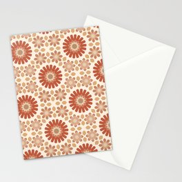 Moroccan Earth Tones Pattern Stationery Cards