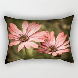 Red African Daisy Rectangular Pillow