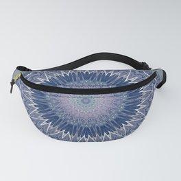 Soft Lavender Blue Mandala Fanny Pack