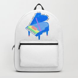 Your Life, Play Your Song - Piano Illustration Jazz Band Classical Music Musician Pianist Positive Backpack
