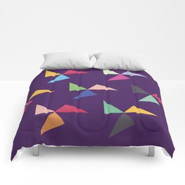 Colorful geometric pattern IV Comforters