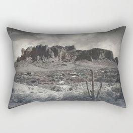 Superstition Mountain - Arizona Desert Rectangular Pillow