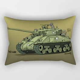 Dogs of War: Sherman Tank Rectangular Pillow