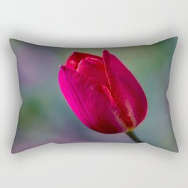 Red Tulip Rectangular Pillow