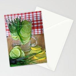 Lemon Grass Drink Stationery Cards