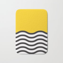 Waves of Yellow Badematte