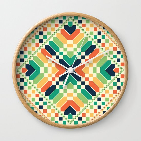 Retrographic Wall Clock