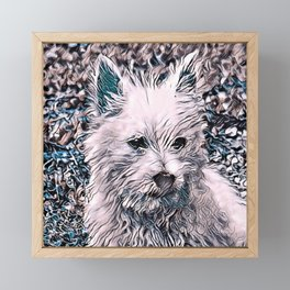 NewArt Animal B Puppy Framed Mini Art Print