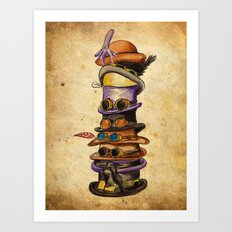 Hat Stack Art Print