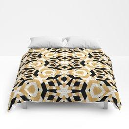 Gold Foil Art Deco Star Pattern Comforters