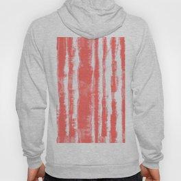 Shibori Stripe Coral Hoody