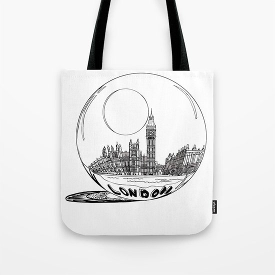 London in a glass ball Tote Bag