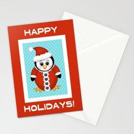 Santa Penguin Stationery Cards
