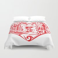 airplanes Duvet Covers featuring isabelle by Gray