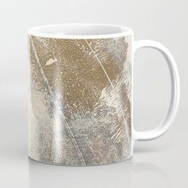 Embrace: a minimal, abstract mixed-media piece in blues and gold with a hint of pink Coffee Mug