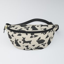 Wild Hare Play in Black Fanny Pack