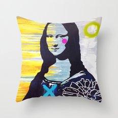 Mona Lisa Throw Pillow