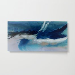 DEEP - Ocean art Resin painting, abstract seascape, coastal painting Metal Print