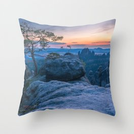 Saxon Switzerland National Park Germany Throw Pillow
